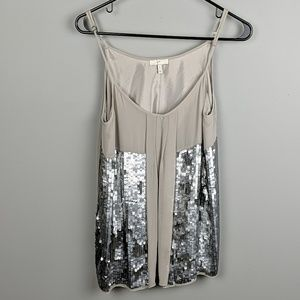 Joie sequin tank top size small